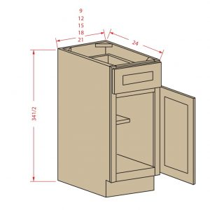 Single Door/ Single Drawer Base Cabinet