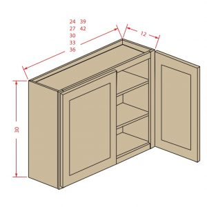 30'' Height Two Door Wall Cabinet