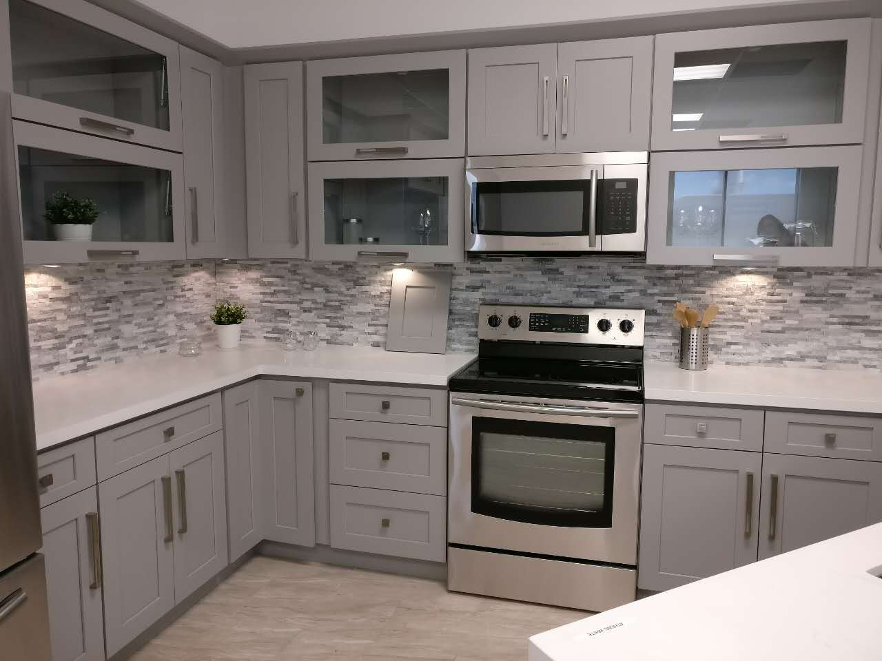 Shaker Gray Finish Rta Cabinets