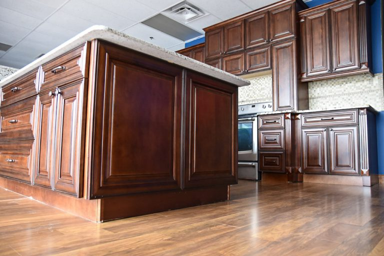 Classic Chocolate RTA Kitchen Island