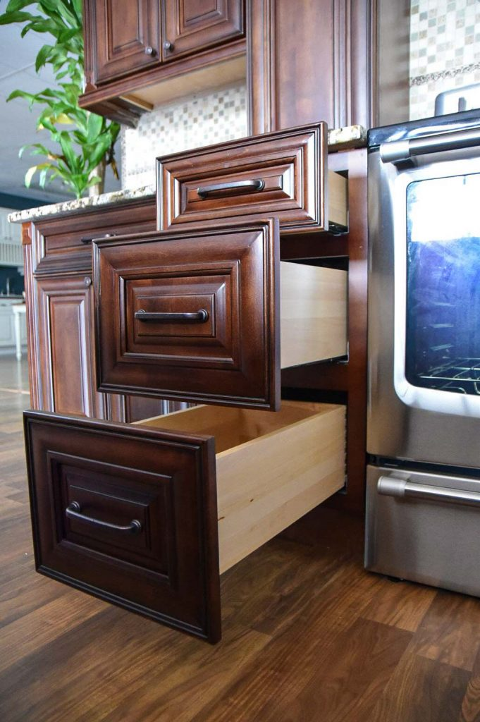 Classic chocolate rta cabinets roc cabinetry atlanta for Kitchen cabinets jimmy carter blvd