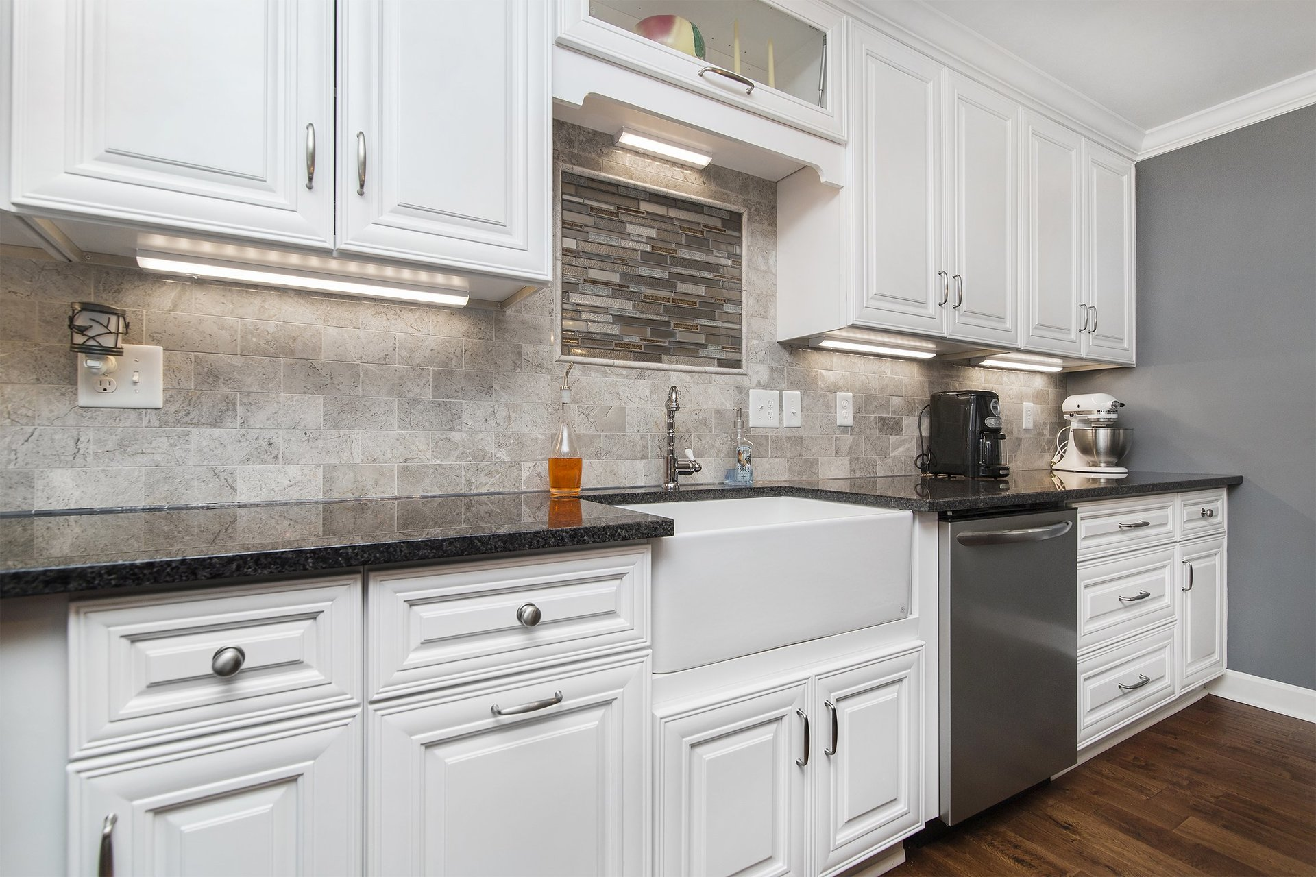 Solid Wood Classic White Kitchen