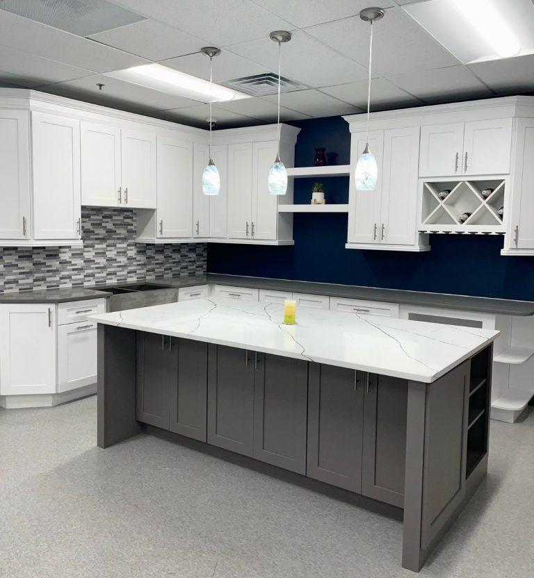 Shaker White & Pebble Gray Kitchen